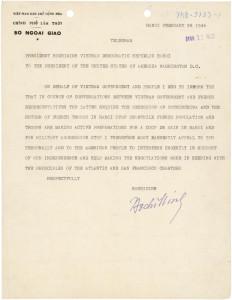 Ho Chi Minh to Truman